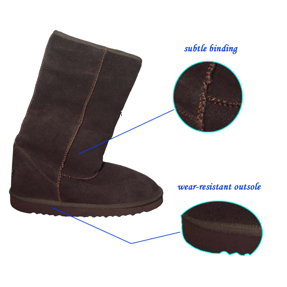 Latest Designed Classic Warm Camel woman Snow Boots with Flexible EVA Outsole from Chinese Market