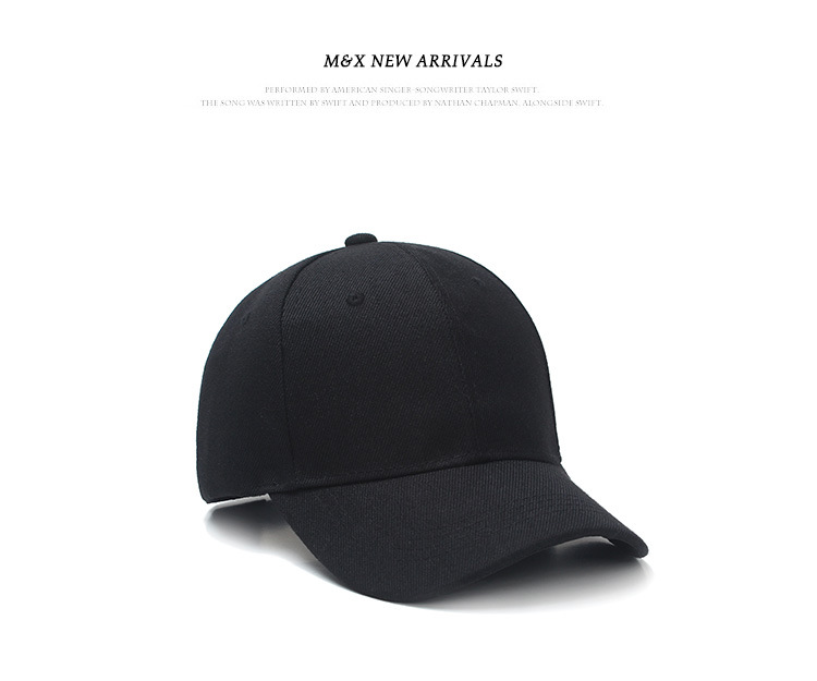 New Brand Summer Black Solid Color Hats Baseball hat Men's Women's children's unisex cap best on line headwear EMAOR