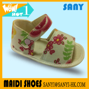 New Beautiful Flower Colorful Kid Shoes Sandal