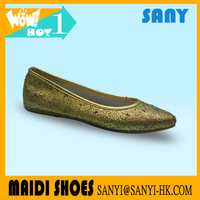 Factory Wholesale Sexy Golden Ladies' Dance Shoes with Durable Outsole