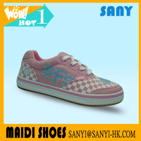 China Stylish Printed Vulcanized Cute Flat Cheap Casual Canvas Shoes For Girls