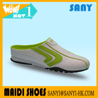 2018 Best Selling Woman's Acid Green/White Low Cut Slip-on Casual Shoes with Anti-slip Rubber Outsole from Chinese Market