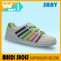 Latest Style Women's Colorful Casual/Skate Shoes Made in China with PU upper,TPR outsole