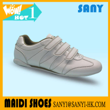 Hot Arrival Concise Soft White PU Upper Casual Sport Shoes with EVA&Rubber Outsole Exported from China