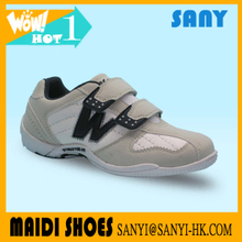 Stylish Gesso and White Sport Kid Child Suede Leather Casual Shoes