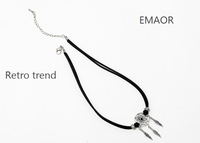 Fashion retro Korean cashmere short catcher sexy clavicle necklace Ms. Necklace sale