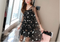 Women Embroidery Flower Casual Dress 2018 Summer Two Piece Mesh Maxi Dress white skirt Long Sexy Dress Clothing