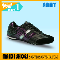 Hot selling Arrival Comfortable Woman Stylish Black PU Casual Shoes with Flexible and Durable Rubber Outsole with low price
