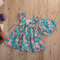 Summer Style Baby Girls Clothing 2pcs Set Newborn Ruffle Outfits Floral Beach Bohemian Dress With Briefs Novelty Kids Party Beach Clothing
