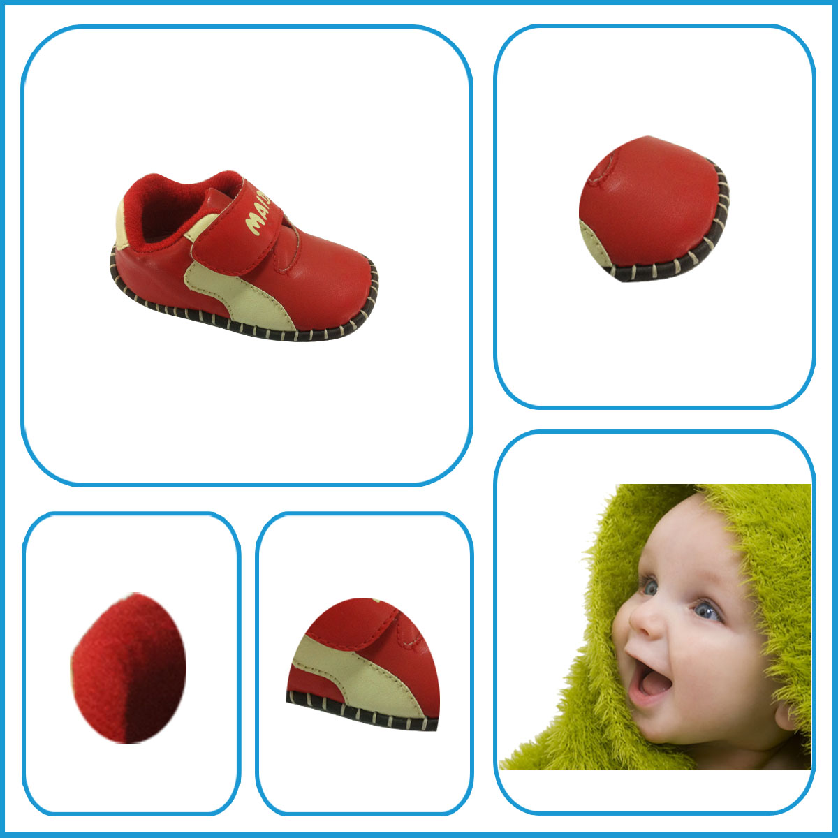 Hot Selling Pu Breathale Red Kids Shoes with High Quality Rubber Sole Genuine Leather Kids Shoes from China