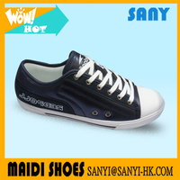 Stylish Vulcanized Dark Blue Casual Shoes /Stylish Canvas Shoes For Men Or Woman / Low Cut Fashion shoes