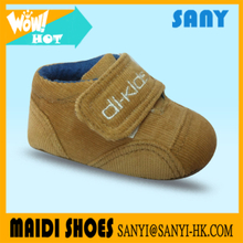 High Quality Reasonable Price lovely Plain Brown Cotton comfortable Infant Shoes From China Shoe Manufacturer