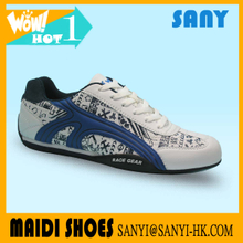 Hot Selling Fashionable White Man Printed Casual Shoe with Durable EVA&amp Rubber Outsole