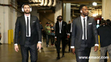 What's the deal with the Cavs, LeBron, the road and those suits?