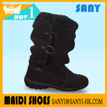 Hot Selling Style Ladies Winter Snow Warm Plush/ Fur Suede Boot with High Quality Durable Rubber Outsole from China