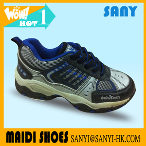 New Arrival Chinese Jinjiang Stylish Colorful Running Shoes with PU&Mesh Upper for Kid
