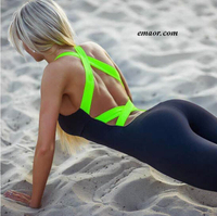 Yoga Dress Pants for Women Gym Workout Tracksuit For One Piece Sport Clothing Backless Sport Suit