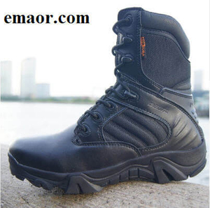 Men Military Boots Winter Autumn Quality Special Force Tactical Desert Combat Ankle Boats Army Work Shoes Leather Snow Boots