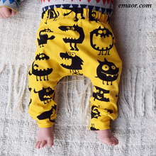 Baby Pants Newborn Pants Girl Pants Kids Ripped Jeans Toddler Boys Cotton Pants Childrens Monster Leggings