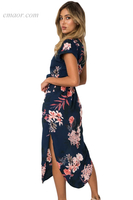 Summer Maxi Dresses Navy Pink Floral Print Pencil Dresspetite Lulus Hot Summer Dresses
