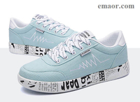 Vulcanized Shoes 2019 Fashion Women Sneakers Ladies Lace-up Casual Shoes Breathable Walking Flat Graffiti Canvas Shoes