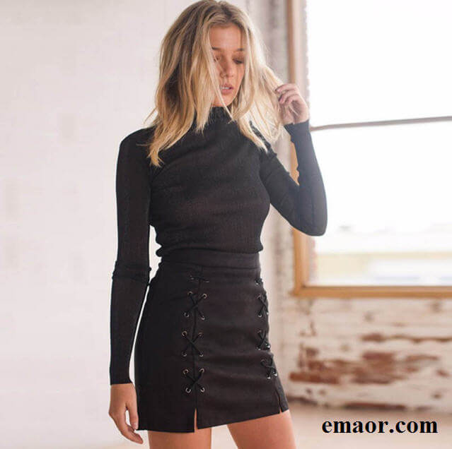 4321c6e87731 Women Skirt Leather Suede Pencil Black Mini Skirt 2019 Summer Fashion High  Waist Short Bodycon Lace