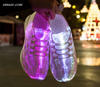 Led Shoes USB Chargeable Glowing Sneakers Fiber Optic White Shoes Party Wedding Shoes