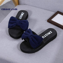Women Bow Sandals Slipper Classical 2019 Summer Indoor Outdoor Non-slip Flip-flops Beach Shoes New Fashion Female Casual Flower Slipper