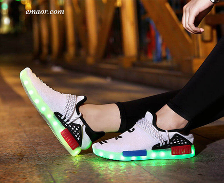 Led Luminous Shoes for Girls Boys USB Recharge Glowing Sneakers Man Light Up Shoes