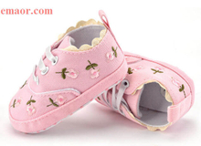 Baby Girl Shoes Japan Girl White Lace Floral Embroidered Soft Shoes Prewalker Best Anti-slip Walking Toddler Kids Shoes