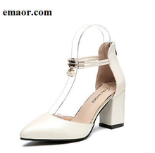 High Heels for Women Comfortable And Beautiful Pointed Toe Wedding Sexy Pumps Side with Pearl Ladies Princess Shoes