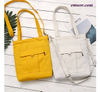 Fashion Cotton Grocery Tote Shopping Bags Fashion Canvas Solid Recyclable Bags
