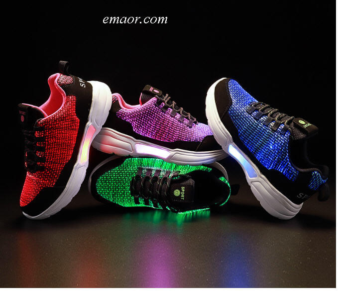 New LED Shoes Fiber Optic Shoes USB Charging Light Up Shoes for Men Women Adult Glowing Running Sneaker LED Shoes
