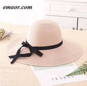 Womens Straw Hat Summer Big Wide Brim Beach Shade Foldable Sun Block UV Protection Feminino Panama Hat
