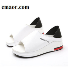 Women Sandals New Fashion Spring Summer Platform Sandal Shoes Woman Peep Toe Leather Beach Casual Sandals
