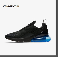 Nike Shoes Original Authentic Air Max 270 Men's Running Shoes New Black Nike