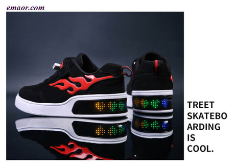 LED Display Colorful Kid Shoes Luminous Shoes LED with Light Up Shoes Charging USB
