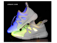 New Fiber Optic Shoes for Children, Glowing Sneakers Kids Led Shoes USB chargeable light up Shoes