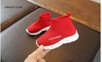 Kids Shoes Elastic Sports Led Shoes Leisure Baby Light Shoes Children Kids Breathable Sport Shoes