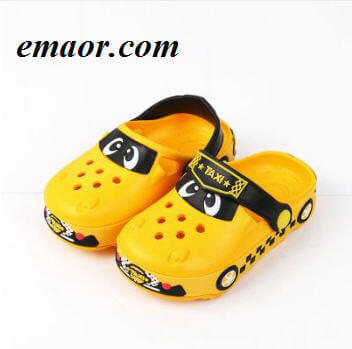 Kids Garden Shoes Mules And Clogs Girls Boys EVA Cartoon Car Non-slip Fashion Breathable Children Slippers
