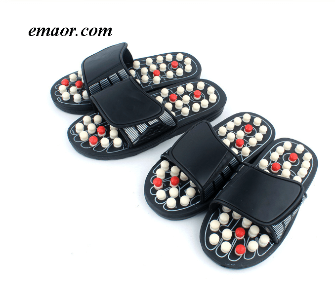 Ruby Slippers Found Men's Blue Stripe Essential Health Care Taichi Acupuncture Foot Massage Slippersfrette Slippers Concha Slippers