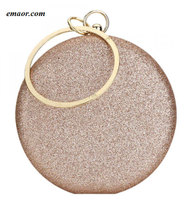 Gold Gillter Handbags Wedding Evening Women's Clutch Round Bags Round Purses And Handbags Crossbody Party Shoulder Bags