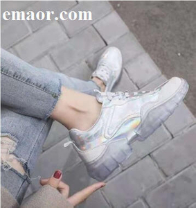 Sports Shoes Crystal Bottom Platform Shoes Women's Sports Shoes Song Qian with The Ins Tide Increased High Super Wild Joker 2019 New Casual Shoes