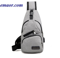 Male Shoulder Bags New Arrival USB Charging Crossbody Anti Theft Chest Bag School Short Trip Messengers Bags