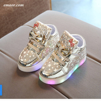 LED Luminous Sneakers Girls Glowing Sneakers Flashing Toddler Lights Up Shoes Basket Led Fashion Lighting Shoes