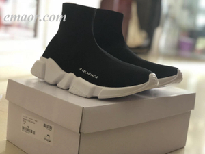 Champion Sock Shoes Brand High Top Men's Sock Shoes Slip On Comfortable Casual Sock Sneakers Shoes Men's Fashion Stretch Mans Footwear Non-slip Sneakers Champion Sock Shoes
