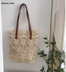 New Summer Lace Bucket Lady Handbags Beis Bags Sling Bags Beach Bags Tote Bags