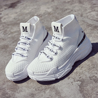 Fashion Knit Upper Lightweight Breathable Sports High Top Lovers Casual Shoes for Womens Mens High Top Running Shoes for Mens Yangmi
