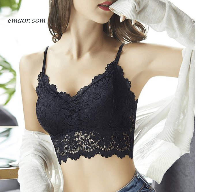 Floral Bralette Padded Women's Lingerie Sexy Lingerie Crop Tops Lingerie Brands