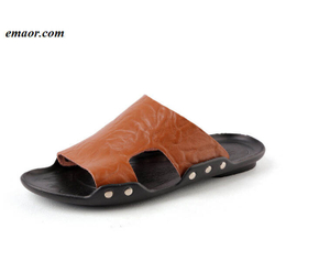 Classic Men Soft Sandals Comfortable Men's Summer Brand Leather Platform Sandals